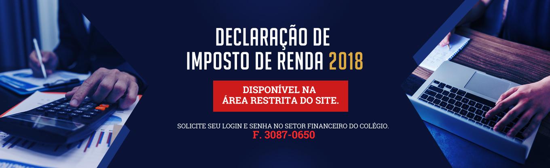 Declaração de Imposto de renda 2018